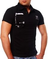 ORYGINAL T-SHIRT POLO swl F128 BLACK