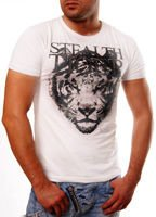 ORYGINAL T-SHIRT QQ726 JAPAN TIGER BIALY