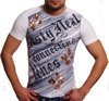 ORYGINAL T-SHIRT ZLOTE ROMBY BIALY RTN 478