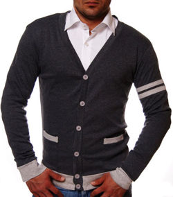 CARDIGAN PULOWER ANTRACYT 1335 UNIVERSITY
